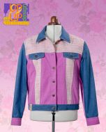 Up & Up sewn Jeans style Jacket 'Bouclé in Pink'