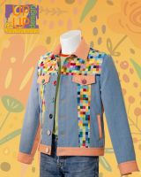 Up & Up sewn Jeans style Jacket 'Disco Party'
