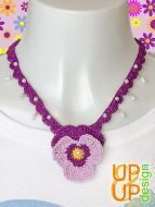 Up & Up Necklace: Lovely Violet