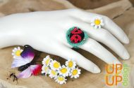 Up & Up Ring: Lovely Lady Bug